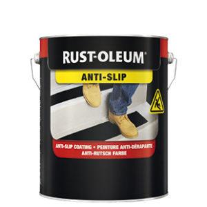 Farba antypoślizgowa na schody Rust Oleum 7100ns malowanie beton podłogi