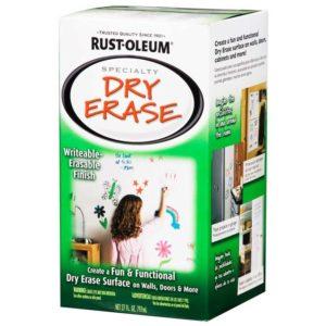 Farba tablicowa suchościeralna do rysowania markerami biała Rust Oleum Dry Wipe