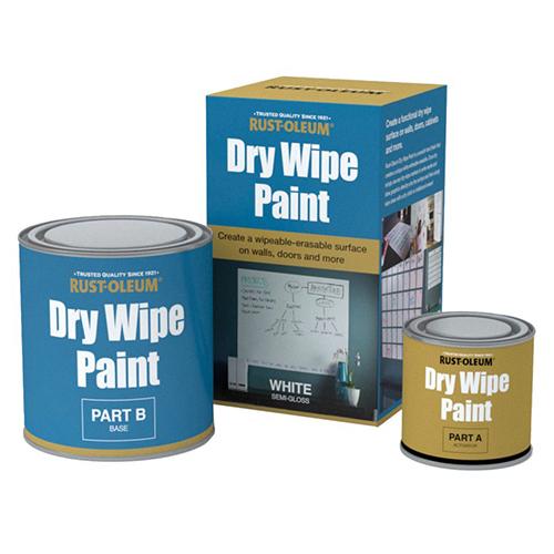Farba tablicowa suchościeralna biała Rust Oleum Dry Wipe
