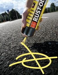 Spray do znakowania dróg drzew palet