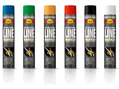 Farba do malowania linii Rust Oleum 2300 Hard Hat znakowania spraye
