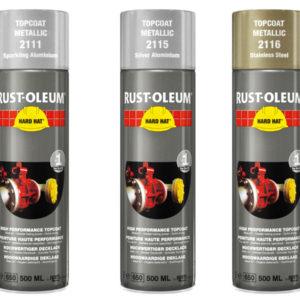 Farby metaliczne do aluminium 2115 2111 2116 Spraye Rust Oleum