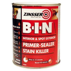 Podkład na plamy Zinsser bin farba na zacieki grunt