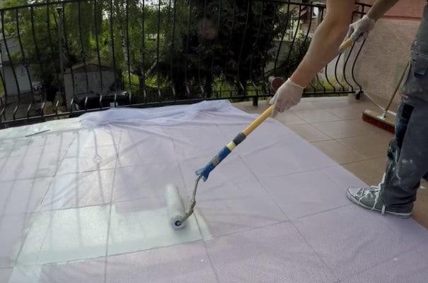 Środek do uszczelnienia tarasu i balkonu, masa uszczelniająca, izolacja, preparat, farba, malowanie, przeciekający